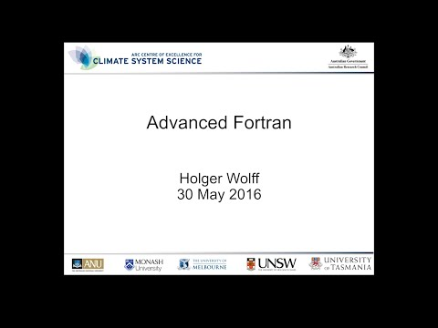 Advanced Fortran (Holger Wolff)