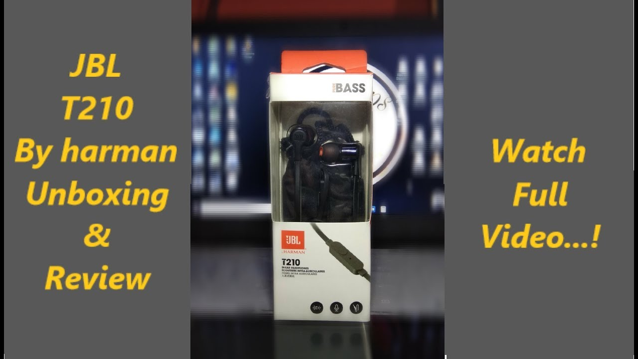 aa93badce3b JBL T210 In-Ear headphones Unboxing and Review - YouTube