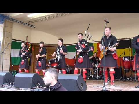 Red Hot Chilli Pipers at Ross Bandstand Edinburgh