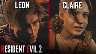 LEON'S ENDING vs CLAIRE'S ENDING- Resident Evil 2 REMAKE