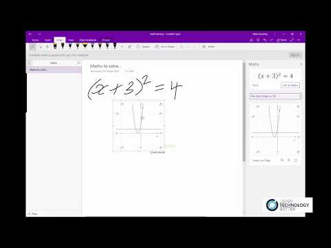 How to solve maths equations in OneNote
