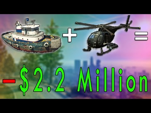 TUGBOAT + UNMANNED HELICOPTER = - $2.2 MILLION  GTA 5 Online Finance and Felony DLC