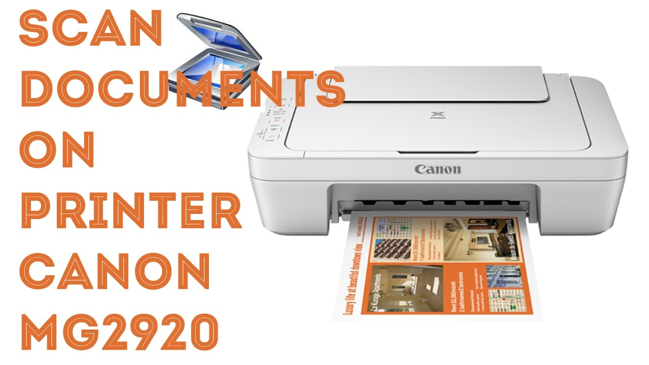 how to connect canon mg2920 to scan