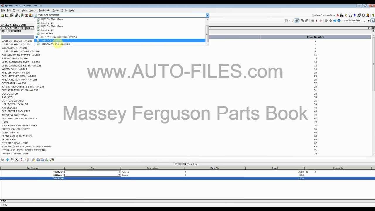 Massey Ferguson 2013 North America & Europe Parts catalog / service ...