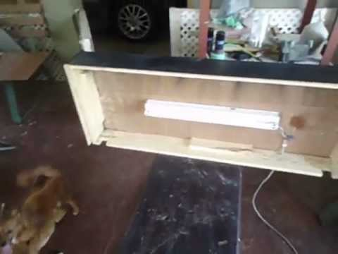 Diy aquarium canopy cover youtube for Fish tank top cover