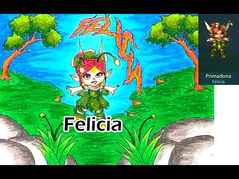Drawing And Coloring Primadona Felicia The Hero Of Lords Mobile
