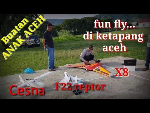 Uji terbang pesawat buatan Anak Aceh best plane