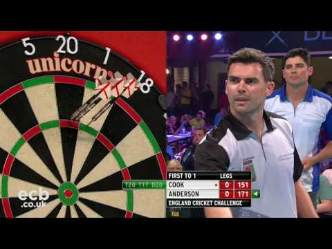 Alastair Cook v James Anderson - Darts Rematch, Winter Gardens