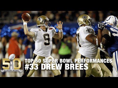 #33: Drew Brees Super Bowl XLIV Highlights | Top 50 Super Bowl Performances