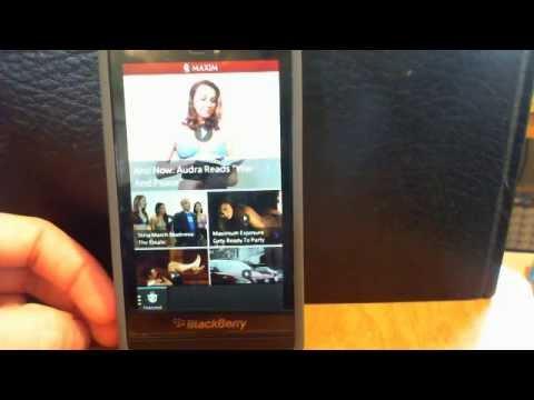 MAXIM Magazine - BlackBerry 10 App Review