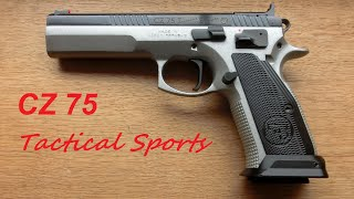 cz 75 tactical sports unboxing first shots ipsc training