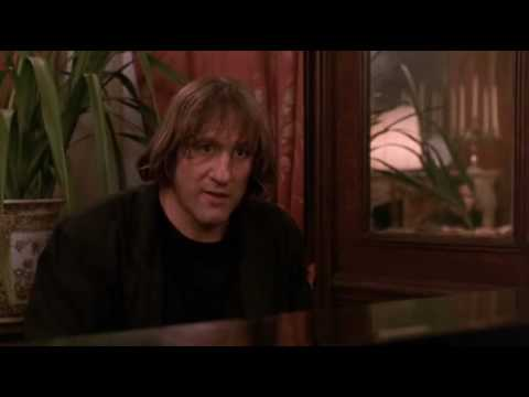 Gerard Depardieu plays piano and sings a poem in Green Card