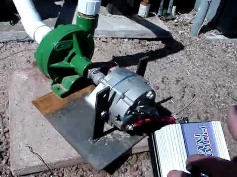 Pool Pump Generator First of Its Kind 2282013  YouTube