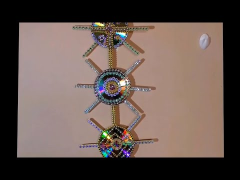 DIY : HOW TO  decorate waste CD\DVD     HOW TO MAKE-old CD wall decor -DIY