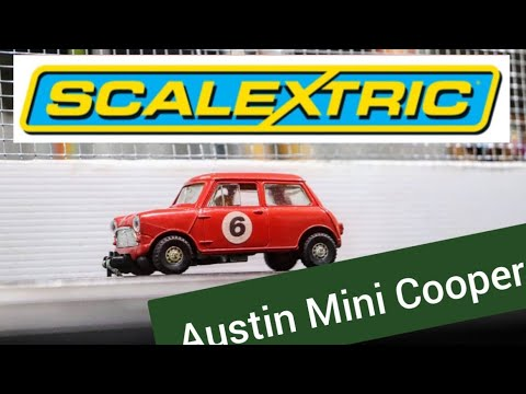 slot car review : Austin Mini Cooper by scalextric