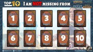 Top 10 Magic Cards I don't Miss from last Standard Season