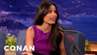 Freida Pinto Can't Drive Or Swim - CONAN on TBS