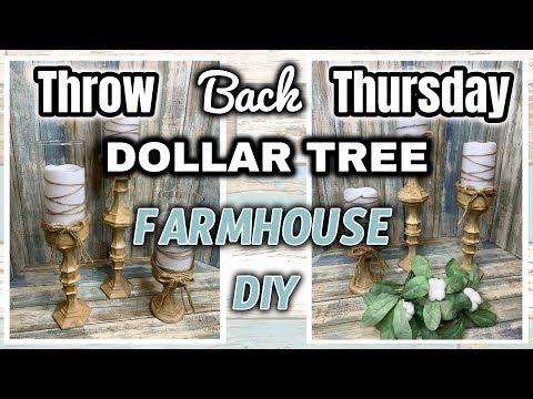 Dollar Tree FARMHOUSE DIY | Throw Back Thursday | OLDIE but GOODIE
