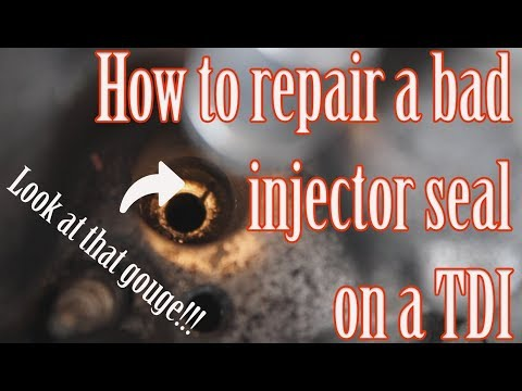 How to repair a bad injector seal on a TDI