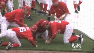 Nebraska Baseball Rain Delay Dance Party