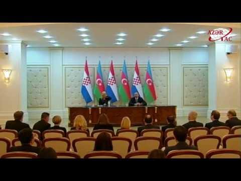 Presidents of Azerbaijan and Croatia made press statements