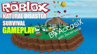 Natural Disaster Survival Gameplay on Roblox! | AccasiX