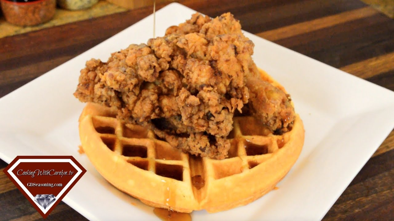 SPICY SOUTHERN FRIED CHICKEN AND BUTTERMILK WAFFLES- Crispy and Delicious! |Cooking With Carolyn