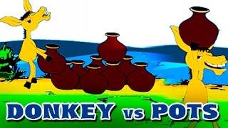 animation cartoon - donkey vs pots
