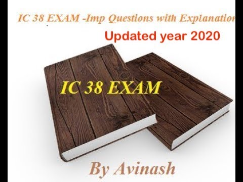 HOW TO 100% PASS IRDA    IC 38 EXAM -Imp Questions with Explanation of irda  ic38 mock test