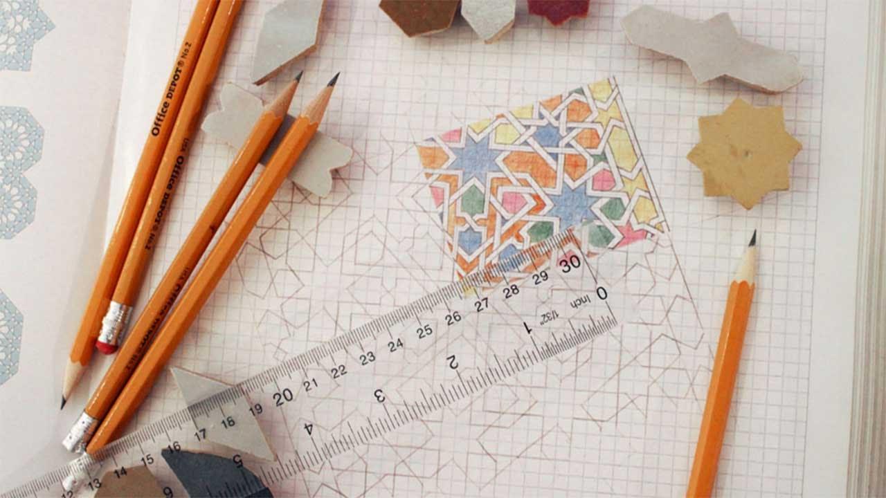 كيفية تعلم الرسم الاسلامي المغربي بضوابطه خطوة خطوةbaycla