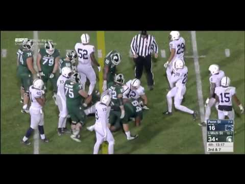 11/28/2015  Michigan State 55 Penn State 16