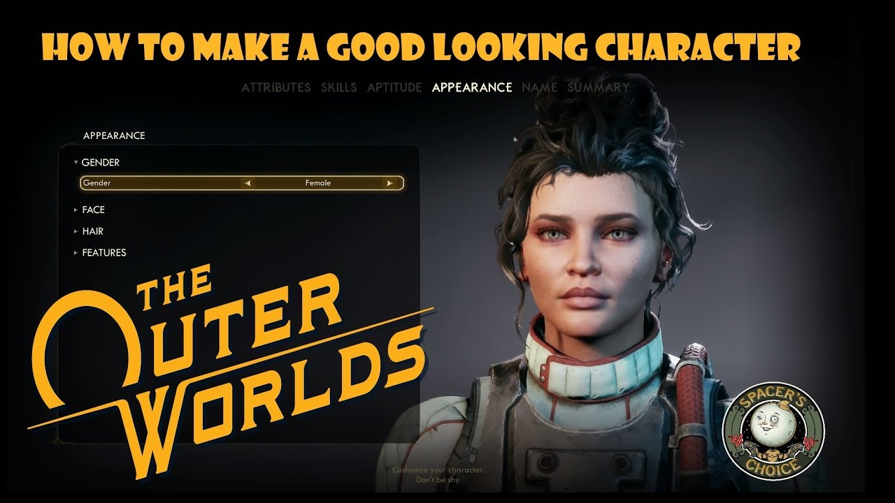 Best Character Creation Games 2020.The Outer Worlds How To Make A Good Looking Character Female Preset 1
