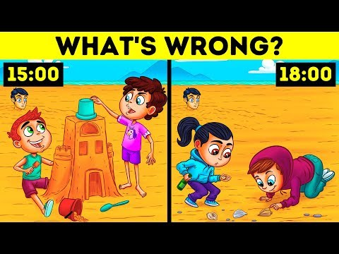 ONLY A GENIUS WILL FIND THE MISTAKES! PICTURE RIDDLES THAT KIDS SOLVE EASILY