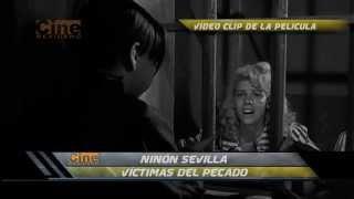 Escena dramática de Ninón Sevilla en Víctimas del Pecado (1951)