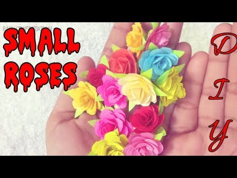 🌹DIY Mini Rose Step by Step Tutorial🌹How To Make Small Paper Rose Flower