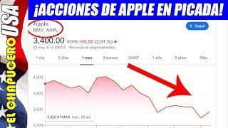 Se desploman acciones de Apple por ataque de EU a Huawei. Pierde 50 mil mdd ¡en un día!