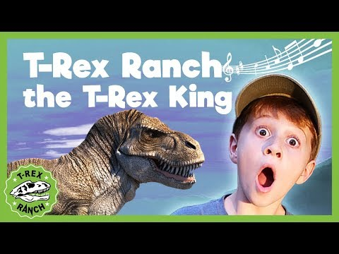 Hail T-Bone The T-Rex King Dinosaurs At T-Rex Ranch! Giant T-Rex & More Dinosaurs! Songs For Kids!