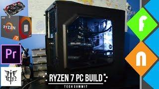 Building a Budget Video Editing PC using Ryzen 7 - 1700 & GTX750Ti!