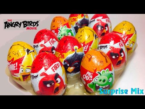 ЭНГРИ БЁРДС В КИНО Злые Птички Шоколадные яйца СЮРПРИЗЫ  ANGRY BIRDS Movie KINDER SURPRISE Unboxing