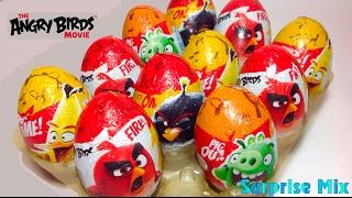 ЭНГРИ БЁРДС В КИНО Злые Птички Шоколадные яйца СЮРПРИЗЫ / ANGRY BIRDS Movie KINDER SURPRISE Unboxing