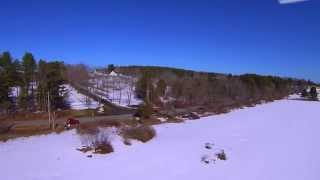 Yuneec Q500 Typhoon: Aerial near Highland Farm on Cider Hill Road, York, Maine Music by Vangelis