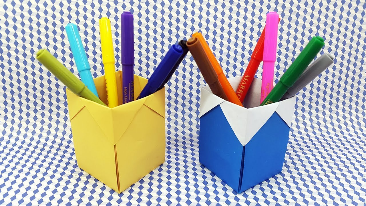Origami Pencil Holder – Origami Tutorials | 720x1280