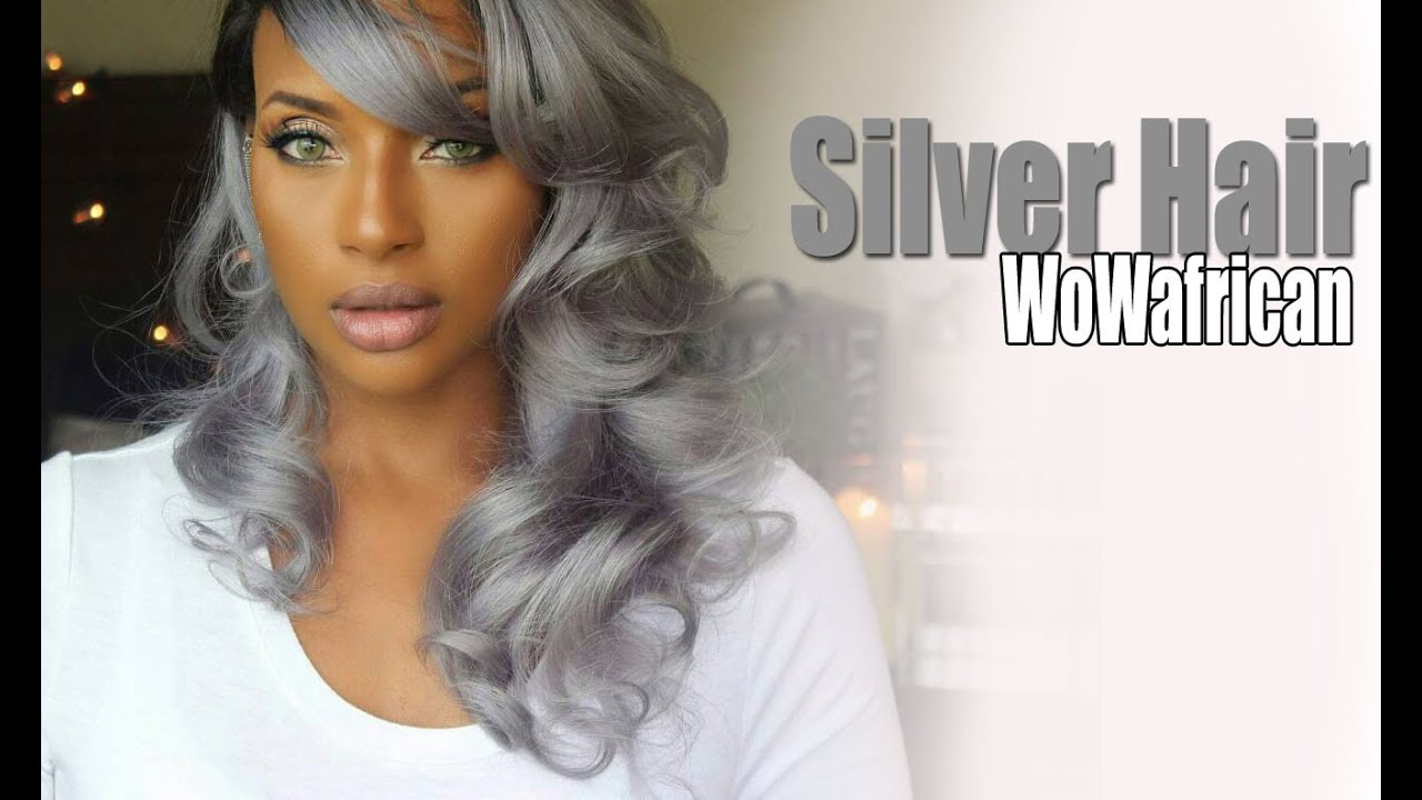 Brazilian Silver/Grey Ombre wig with WowAfrican - YouTube