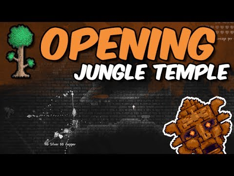 Terraria: Opening the Jungle Temple!