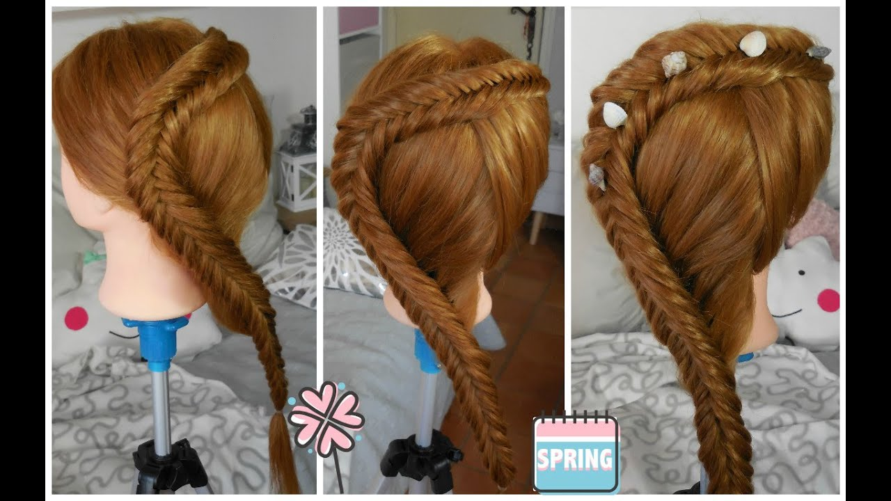 tuto coiffure simple dutch fishtail braid tresse pi de bl invers e coll e youtube. Black Bedroom Furniture Sets. Home Design Ideas