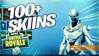 *NEW* Locker Showcase In Fortnite Battle Royale!!! - Rare Eon Skin!!! - Over 100 Skins!!!