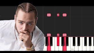 Post Malone ft Nicki Minaj - Ball For Me (EASY Piano Tutorial Instrumental)