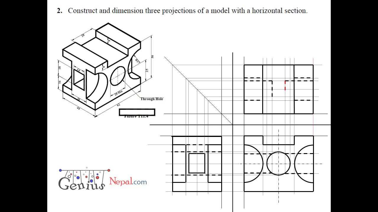 Engineering Drawing Tutorials/Orthographic and sectional