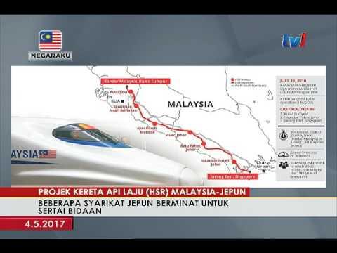 HSR SYARIKAT JEPUN BERMINAT SERTAI BIDAAN TENDER (HSR) MALAYSIA - JEPUN [4 MEI 2017]