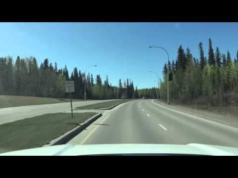 Driving in Hinton, Alberta - Timelapse